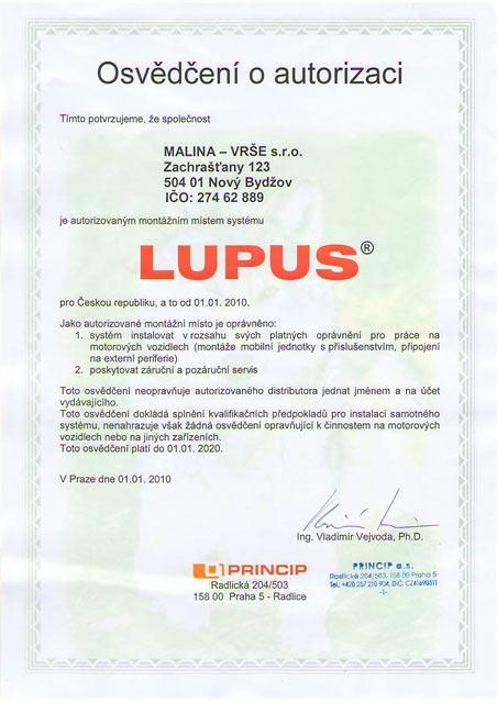 Certifikát PRINCIP