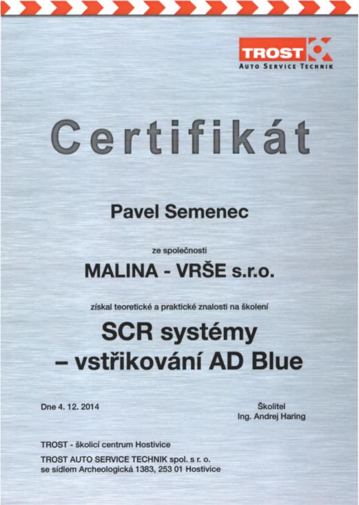 Školení - SCR systémy