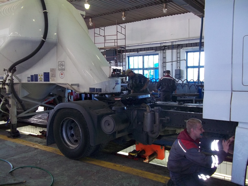 Oprava podvozkové části cisterny