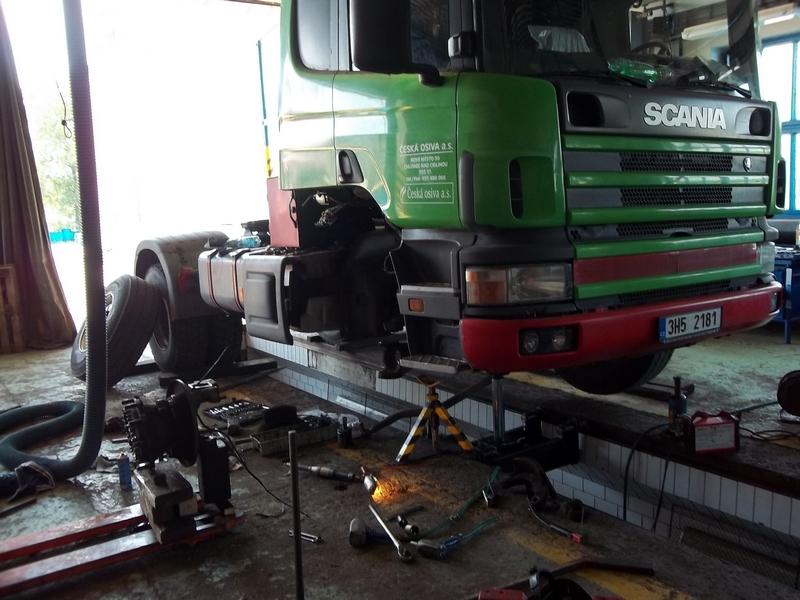 Oprava náboje kola, SCANIA