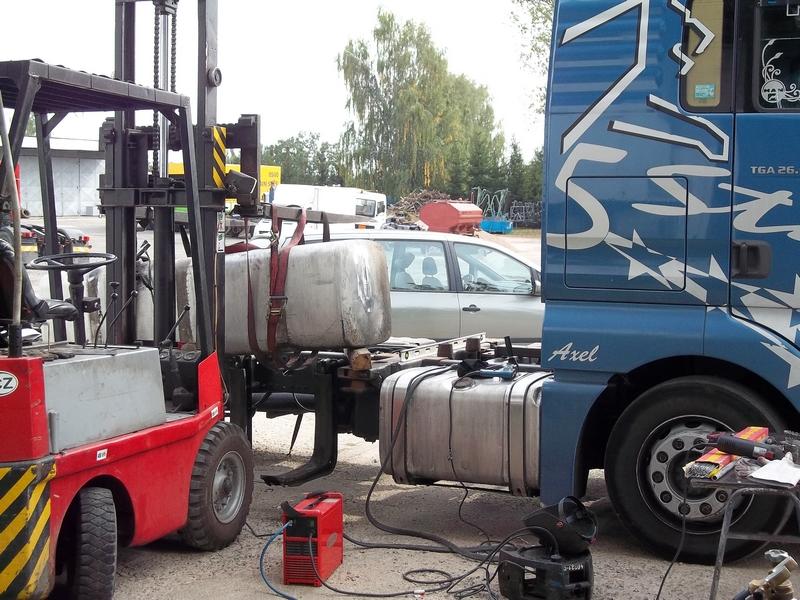 Svařování hliníkové nádrže
